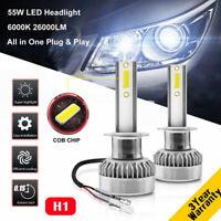 MINI H1 110W 26000LM Car LED Headlight Bulb Kit Stand Replace Xenon White 6000K
