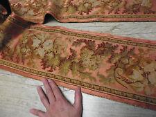 ancien tissu french textile tapisserie broderie main soie laine louis 16 18e