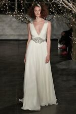 Jenny Packham Daphne Embellished Wedding Dress Size 8 10 & MATCHING ACCESSORIES