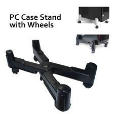 NEW PC Desktop Case Stand Holder Computer tower Rolling Caster Wheels Adjustable