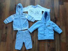 Boy's winter clothing bundle, 4 pieces, sky blue, George brand, age 3-6 months