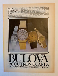 1978 Bulova Accutron Quartz Watch Print Ad Wear Tomorrow On Your Wrist Today