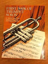 First Book Of Trumpet Solos with piano accompaniment *NEW* Publisher Faber