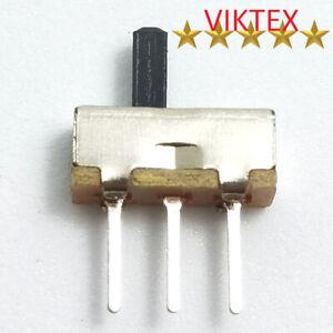 10x MINI SCHIEBESCHALTER MINIATUR 3 PIN 2 POSITIONEN MICRO 8,5X4MM 48V 0,1A