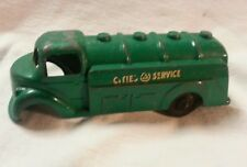 VINTAGE CITIES-SERVICE Toy Friction Die Cast Oil Tanker Truck For Repair