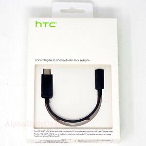 OEM HTC USB-C Digital to 3.5mm Audio Headphone Jack Adapter Earphone Cable