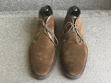 Ermenegildo Zegna Suede Shoes Ankle Boots Dark Brown 10.5 US Italy