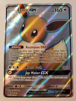 Eevee GX SM242 Ultra Rare Full Art Holo Pokemon Card