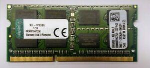 1 x 8GB Kingston KTL-TP3C/8G DDR3 PC3-12800S SODIMM Laptop Memory RAM tested