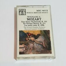 Mozart  Musical Heritage Society Cassette Tape MHC 9077x Scottish Chamber