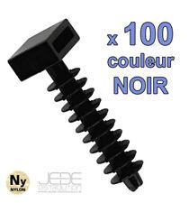 Embases à frapper NOIR Ø8mm pour colliers d'installation (pack de 100)