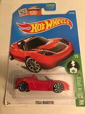 Hot Wheels Tesla Roadster Green Speed Red