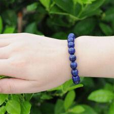 Lapis Lazuli Natural Gemstone Round Beads Stretch Bracelet Bangle Wristband Gift