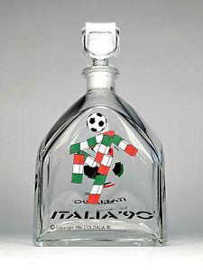 Vintage 1990 FIFA World Cup Ciao Logo Italy Liquor Bottle