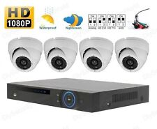 HD-CVI 8-Channel 1080P Mini 1U DVR + 4PCS HD-CVI IR-Cut Dome Camera Kit