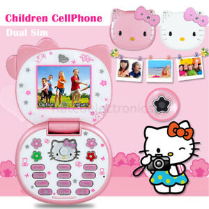 Adorable Small Mini Flip Phone For Girls Women Kid Cute Lovely Hello Kitty K688