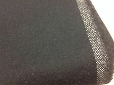 Ralph Lauren Black Upholstery Fabric-Edge Hill Flannel/Midnight 1.95yd LCF65804F