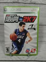 College Hoops 2K7 Microsoft Xbox 360, 2006 Game Complete CIB Tested Works