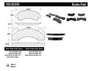 Disc Brake Pad Set-C-TEK Metallic Brake Pads Front,Rear Centric 102.02250