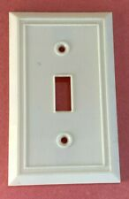 Vintage Ivory Art Deco Bakelite Toggle Switch Cover Plate