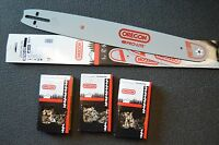 """1 20"""" 200GLHD196 Oregon chainsaw bar & 3 72LGX070G fits 360 330 410 XL-12 925 +"""