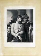 Christus und Pilatus - Da Cadore - Große Lithographie - Hanfstaengl 1835-52