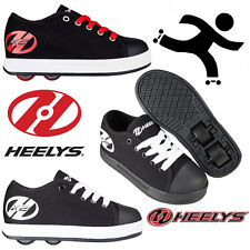 New Heelys Fresh Kids Wheelie Trainers Girls Boys Black Roller Skate Shoes SALE