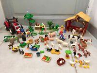 Playmobil Ferme Tracteur Animaux Épouvantail