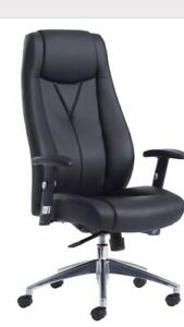 Brand New Odessa Leather High Back Executive Office Chair Adjustable Arms