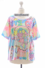 T-20 Pink Bär Bear Teddy Bunny Funky T-Shirt Lolita Harajuku Japan Pastel Goth