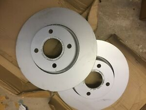 Ford Mondeo Mk1 Mk2 Ford Cougar Front Brake Discs 278mm 4 Hole Genuine Ford NEW