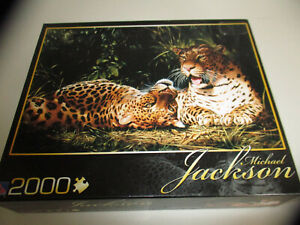 "Leopards at Rest 2000 Pc Sure-Lox Jigsaw Puzzle Michael Jackson 39"" by 27"""