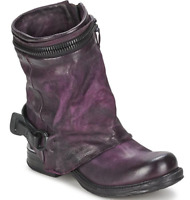 Ladies Round Toe Low Block Heel Casual Vintage Women Ankle Riding Punk Boots