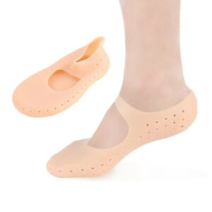 1Pair full length foot silicone socks moisturizing protector cracked skin careDS