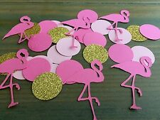 Flamingo Confetti, Pink & Gold, Flamingo Party, Luau, Birthday Party, Shower