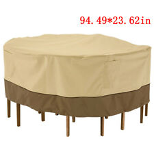 """94"""" Waterproof Round Patio Set Cover Large Outdoor Table Chair Furniture Cover"""