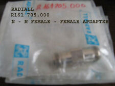 RADIALL R161705 000 W  N- N FEMALE FEMALE ADAPTER 1pcs