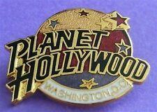 Planet Hollywood WASHINGTON DC 1990s Classic 3 Color Globe LOGO Lapel Pin NEW