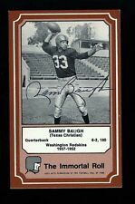SAMMY BAUGH - REDSKINS - Autographed 1975 Immortal Roll w/COA - Died 2008