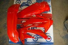 RACE TECH  HONDA PLASTIC KIT CRF450R CRF450 2005 2006 2007 08 RED/ORANGE SHROUDS