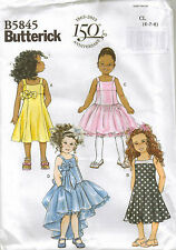 From UK Sewing Pattern Wedding Bridesmaid Party Summer Dress  6-8 years #5845