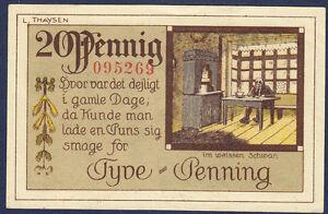DENMARK TONDERN 20 PFENNIG 1920 XF