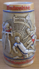 VHTF COLLECTIBLE BUDWEISSER BEER CERAMIC MUG OLYMPIC GAMES OF LOS ANGELES 1984