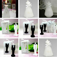 Romantic Love Wedding Cake Candle Bride Bridegroom Shape Decors Gift Pure White