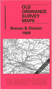 Old Ordnance Survey Map Brecon & District 1909 - Wales Sheet 213