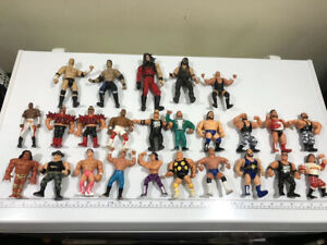 WWE WWF Hasbro 25 Wrestler Figures Huge Lot 1990's Vintage Played With Condition