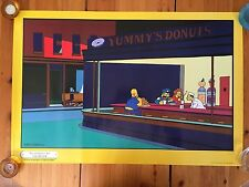 THE SIMPSONS,'NIGHTHOGS AT THE DINER' BY MATT GROENING, AUTHENTIC 1998   POSTER