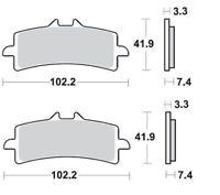 Braking 2 Coppie Pastiglie Freno Anteriore P1R930 SUZUKI GSX R R ABS 1000 2017