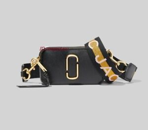 Brand new MARC JACOBS Snapshot Small Camera Bag new BLACK MULTI bag sales.