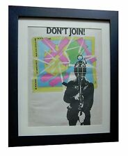 ELVIS COSTELLO+Armed Forces+POSTER+AD+RARE ORIGINAL 1978+FRAMED+FAST GLOBAL SHIP